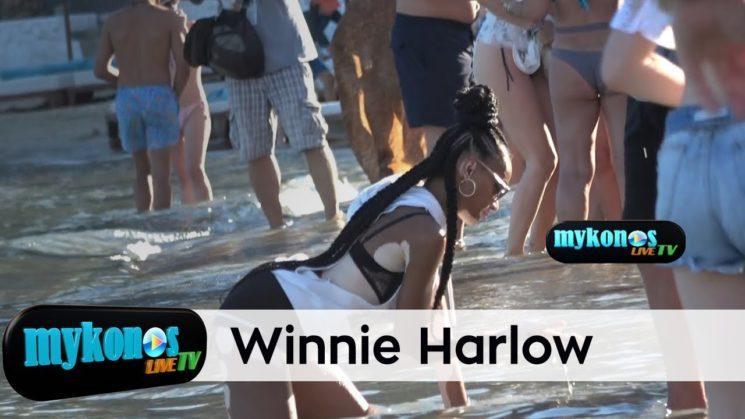 The erotic dance of Winnie Harlow in the azure of waters of Mykonos- ο αισθησιακος χορος της Winnie Harlow στα νερα της Ψαρρους!