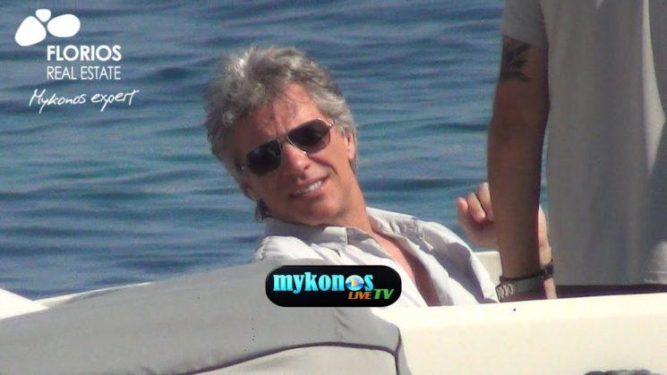ο θρυλος της ροκ Jon Bon Jovi αποχαιρετησε κατενθουσιασμενος την Μυκονο!Jon Bon Jovi holidaying on Mykonos island!