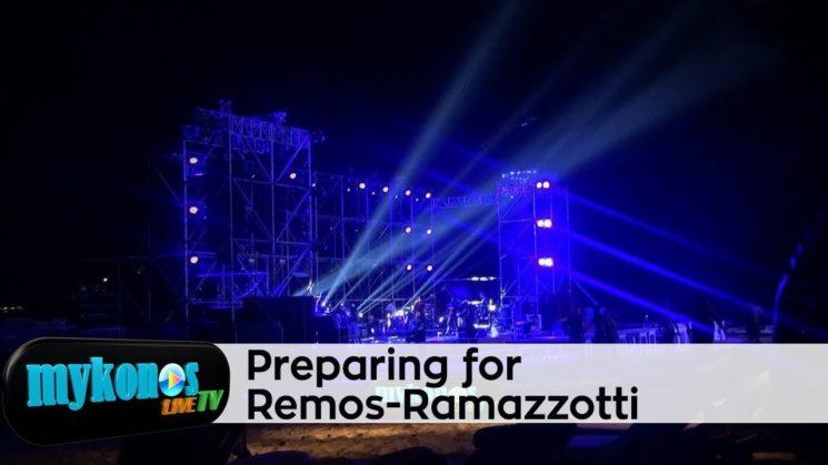Πυρετος προετοιμασιων στην Ψαρρου για την αποψινη συναυλια της χρονιας Ρεμου Ramazzotti στο Nammos