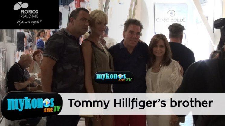 ο αδελφος του σχεδιαστη Tommy Hilfiger στην Μυκονο με ξεναγο την Σασα Σταματη!