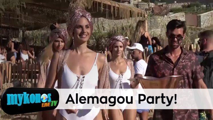 Fabulous beach party στο Alemagou με καυτα κοριτσια, χρυσα φλαμινγκο και αφθονη βοτκα Absolut Elyx