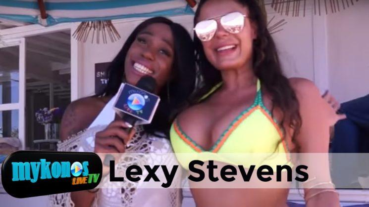 η αισθησιακη Lexy Stevens στο Mykonos Live Tv ειμαι παρθενα και τρελαινομαι για σουβλακια!