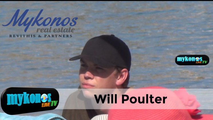 O διασημος ηθοποιος Will Poulter στη Μυκονο- Vacation in Mykonos for Will Poulter