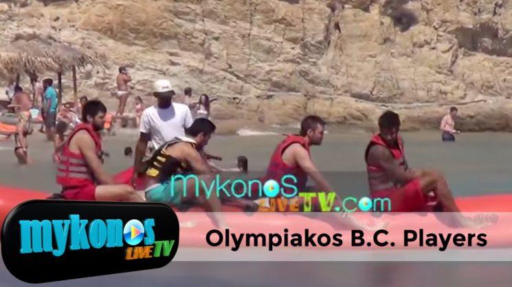 οι τούμπες των παικτών του ολυμπιακού στην Μυκονο!! I Olympiakos Playes playlng in Mykonos