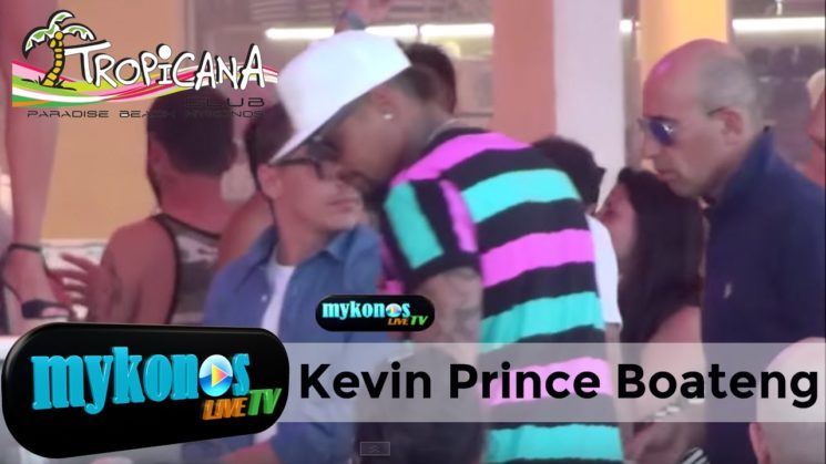 Kevin Prince Boateng Αγαλματακι ακουνητο στη Μυκονο!