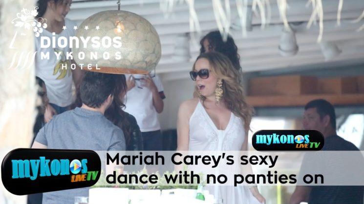 ο σουπερ αισθησιακος χορος της Mariah Carey στην Μυκονο με λευκο φορεμα χωρις εσωρουχο!