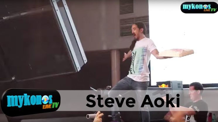 The cake show of DJ Steve Aoki at Cavo Paradiso!