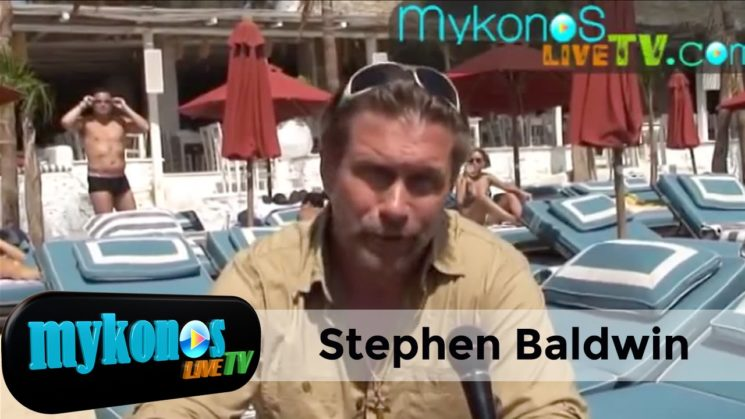 O Stephen Baldwin in Mykonos Greece