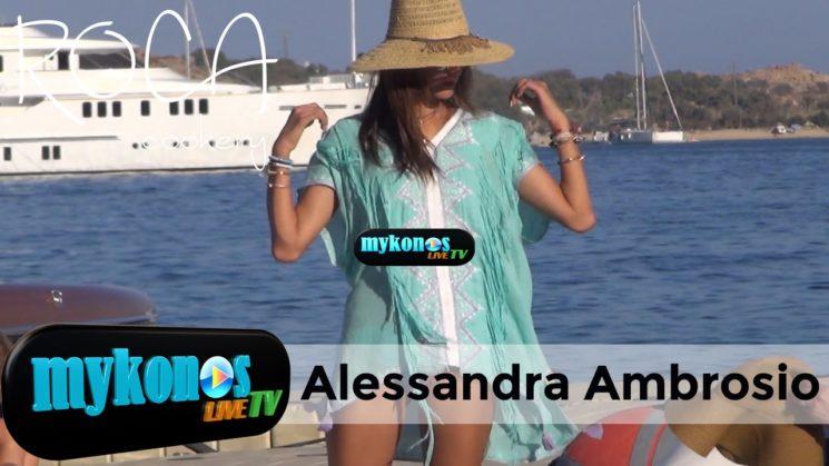 Alesandra Ambrosio ο αγγελος της Μυκονου