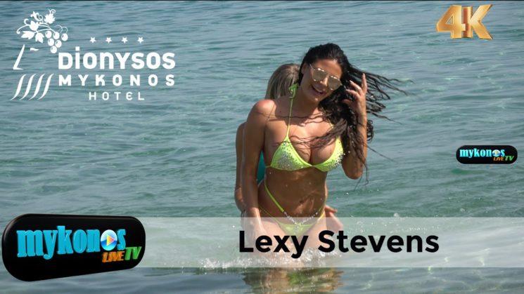 Τουμπανοπαιχνιδια στην Ψαρρου για την αισθησιακη Lexy Stevens και την κουκλαρα φιλη της- Lexy Stevens shows off her curves at Psarrou beach, Mykonos