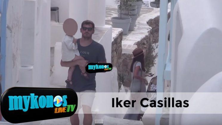 Iker Casillas y Sara Carbonero se relajan con Martin en Mykonos