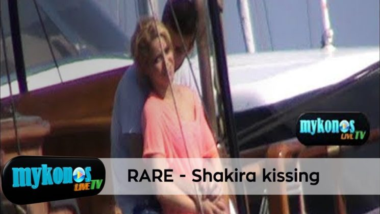 RARE VIDEO: SHAKIRA AND PIQUE SHARE A KISS WITH PASSION ON ROMANTIC TRIP IN MYKONOS