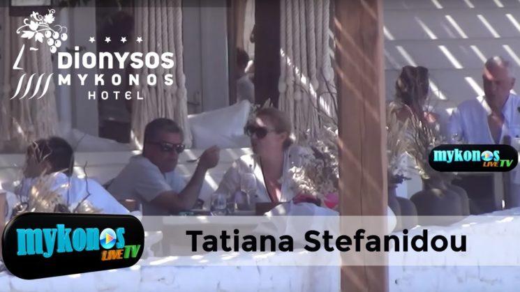 Τατιανα Στεφανιδου   Νικος ευαγγελατος για φαγητο στην Μυκονο