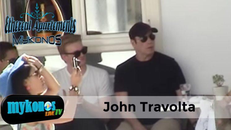 (Τρα)βολτα στα Ματογιαννια και καφεδακι στο Queen για τον θρυλικο πρωταγωνιστη του Grease-John Travolta's holiday in Mykonos