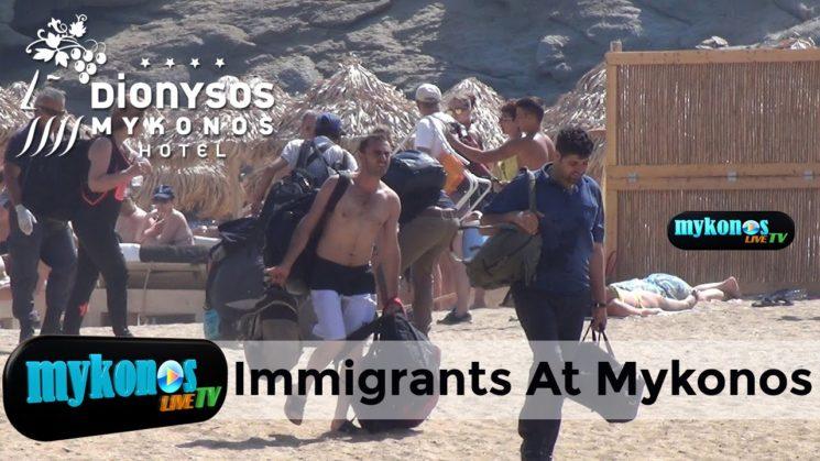 εκτακτο 35 μεταναστες βγηκαν στη Μυκονο