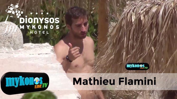 Αποκλειστικα πλανα απο τις διακοπες του Γαλλου μπαλαδορου Mathieu Flamini στην Μυκονο