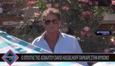 Ο ΙΠΠΟΤΗΣ ΤΗΣ ΑΣΦΑΛΤΟΥ DAVID HASSELHOFF ΠΑΡΚΑΡΕ ΣΤΗΝ ΜΥΚΟΝΟ